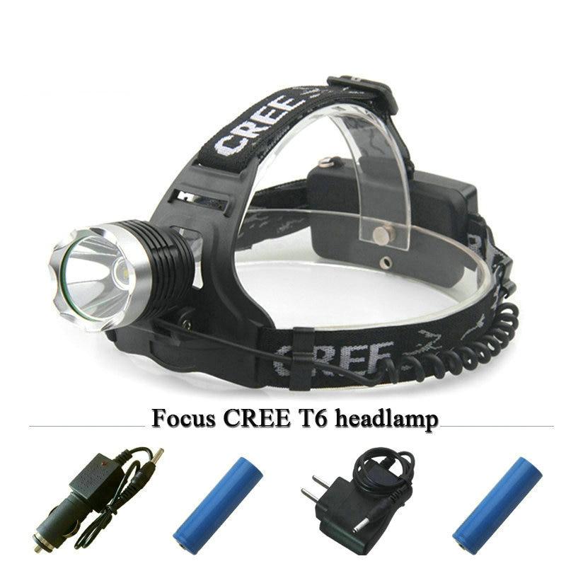 cree xm-l t6 LED head lamp headlamp headlight Lampe 3000 lumens 18650 Battery lanterne frontal head torch Mining light