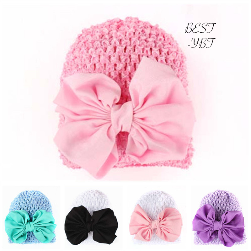 2018 New Arrival Fashion European American Style Lovely Girl's Candy Color Lace  Big Chiffon Bow Flower Hat