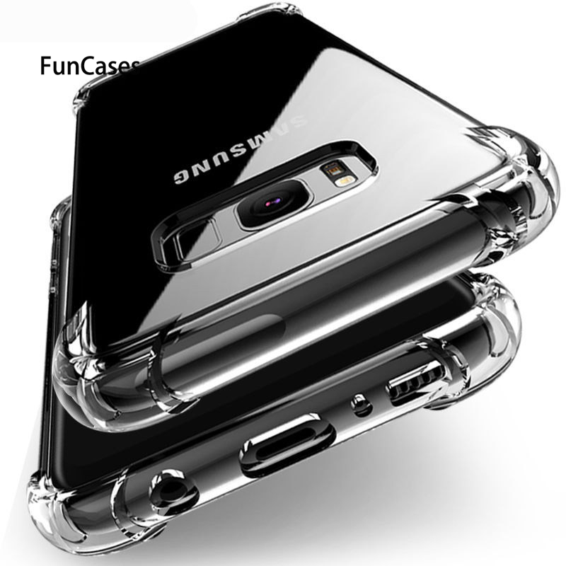 Clear Anti-knock Silicon Cover Case For Samsung A8 A9 Star lite A6 S9 S8 plus A7 A5 J2 PRO J8 J6 J4 2018 J3 2017 <font><b>J7</b></font> J5 S7 edge image