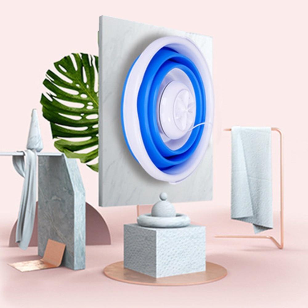 Portable Mini Washing Machine Ultrasonic Turbine Washing Machine Foldable Bucket Shape Laundry Clothes Washer for Home Travel (3)