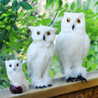 ZILIN NEW! White Simulated Owl / Pet Owl Decor Home Decoration 3 sizes for option