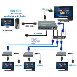 Image 4 - 2020 ZY DT209 RJ45 HDMI Extender IP Over UTP/STP CAT5 CAT5e CAT6 Extensor HDMI With IR LAN Network 200m HDMI Extender Ethernet