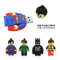 Usb Flash Drive New Pen Drive 32gb Pendrive 16gb 8gb 4gb Superman Batman Hot Sale Avenger Usb 2.0 Memory Stick U Disk cartoon
