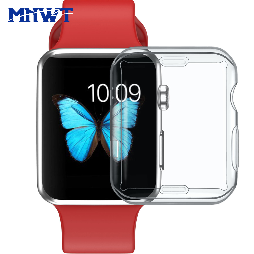 MNWT Soft And Slim Case for Apple Watch 38mm/42mm TPU Screen Protector Cover for iwatch Watch Series 1 2 3 All-around Protect ashei watch cover for apple watch 3 case 42mm 38mm series 3 2 1 soft slim tpu all around ultra thin screen protector for iwatch