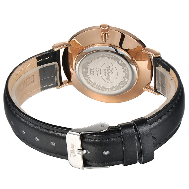 Mickey Mouse Men Ultrathin Fashion Simple Genuine Leather Quartz Round Waterproof Original Disney 11021 Watch Big Sale New Clock