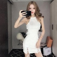 2018 New Sexy Flower Rattan Embroidery Tassel Dress Long Sleeves Dress Red Black White