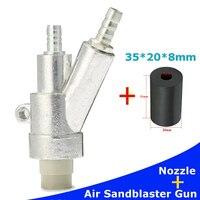 Air Sandblaster Gun Kits Spray Gun Black Boron Carbide Sprayer Nozzle DIY Power Tool Spray Gun