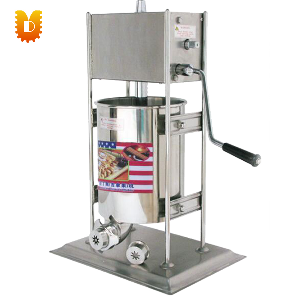 10L Spain churros making machine/5 moulds 1 hole churros maker machine 12l electric automatic spain churros machine fried bread stick making machines spanish snacks latin fruit maker