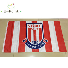 England EPL Stoke City FC 3ft*5ft (90*150cm) Size Christmas Decorations for Home Flag Banner Gifts