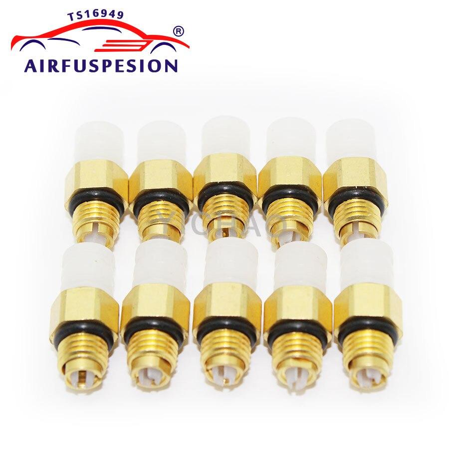 10 pçs kit de reparo da suspensão do ar válvula de ar m8 * 1 para benz w251 w164 w212 w211 w220 w221 novo conector de ar acessórios de bronze do tubo
