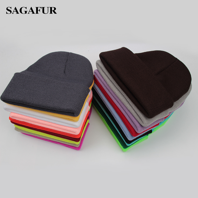 Image 2 - Solid Unisex Beanie Autumn Winter Wool Blends Soft Warm Knitted Cap Men Women SkullCap Hats Gorro Ski Caps 24 Colors Beanies-in Mens Skullies & Beanies from Apparel Accessories on AliExpress