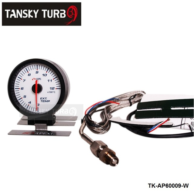 Tansky AP 60MM EXHAUST GAS TEMP GAUGE ELECTTRO-LUMINESCENT / EXHAUST GAS TEMP GAUGE / EXHAUST TEMP METER (white) TK-AP60009-W