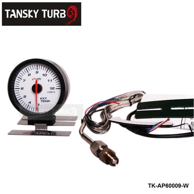 Tansky AP 60MM EXHAUST GAS TEMP GAUGE ELECTTRO-LUMINESCENT / EXHAUST GAS TEMP GAUGE / EXHAUST TEMP METER (white) TK-AP60009-W