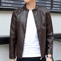 The new men's leather jacket coat short youth PU Imitation Leather Biker jackets
