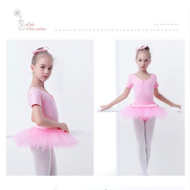 bcc84b814cc8 Girls Ballet Dress Kid Cotton Dance Tutu Ballerina Leotard Short or ...