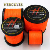 8 Strands 100M 300M 500M 1000M 1500M 2000M Orange Braided Fishing Line Sea Saltwater Carp Fishing Weave Extreme 100% PE Hercules