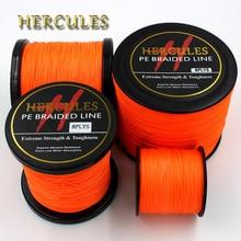 8 Strands 100M 300M 500M 1000M 1500M 2000M Orange Braided Fishing Line Sea Saltwater Carp Fishing Weave Extreme 100% PE Hercules