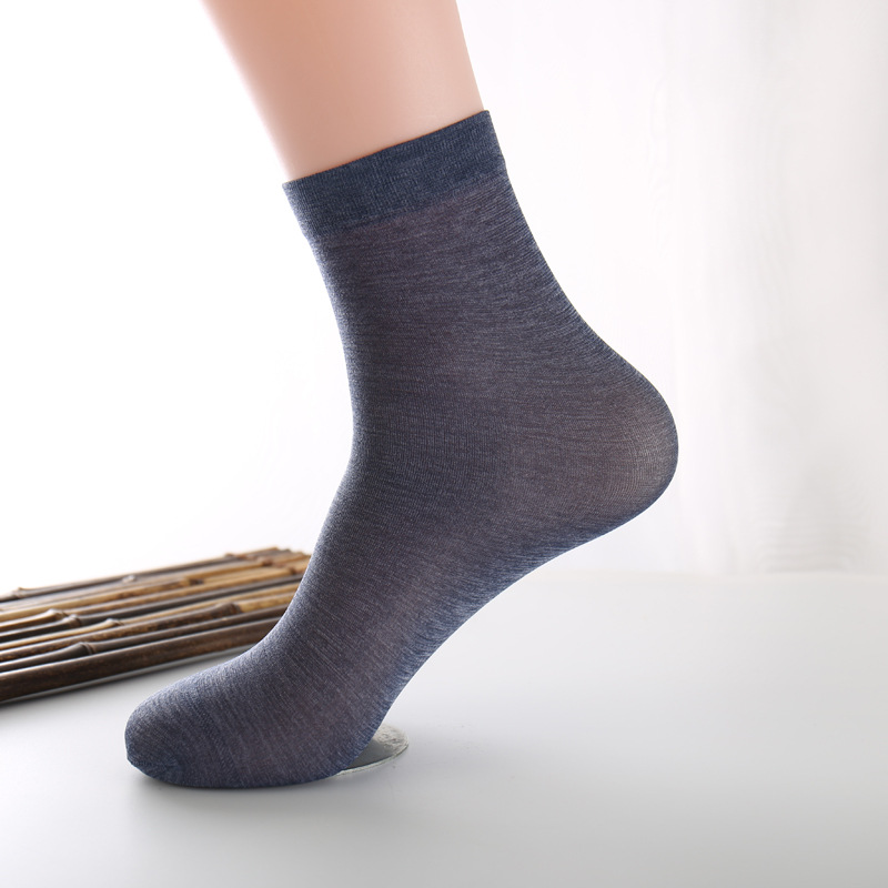 Ixuejie Free Shipping Male transparent stockings Slim Business Suits In Tube Socks Stockings Mens SocksMens Socks
