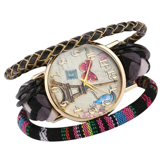 Fashion Women's Watch The Sleek Stylish And Chic Knit Bracelet Watch Decorative