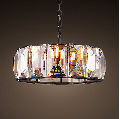 American Vintage Round Crystal LED Pendant Lights Fixtures For Living Hanging Lamp Indoor Lighting Lamparas Suspension Luminaire d20 d30 d40 d50 d60 d70 d80cm crystal led pendant lamp lights lustre rings circle suspension luminaire hanging lamparas lighting