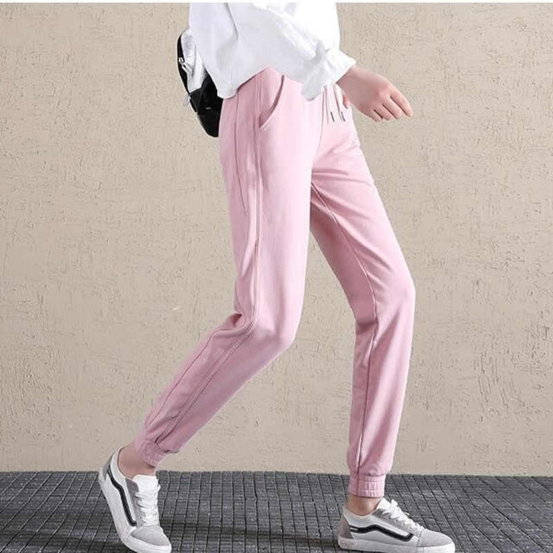 30585ccf09c90  0859 Spring Summer Casual Pants Women Student Korean Fashion Loose Thin  Hip Hop Trousers Black