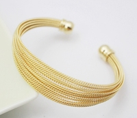 Fashion Stainless Steel Bracelet Indian Jewelry Gold Plated Women Girls Gift Opening Cuff Bangle Bracelet Free