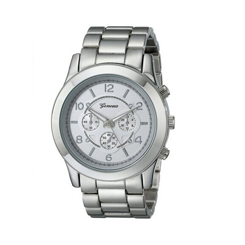 lucky brand mens watches promotion shop for promotional lucky 2015 new hot geneva watches men luxury brand quartz wristwatch women dress watches full stell watches shipping reloj mujer