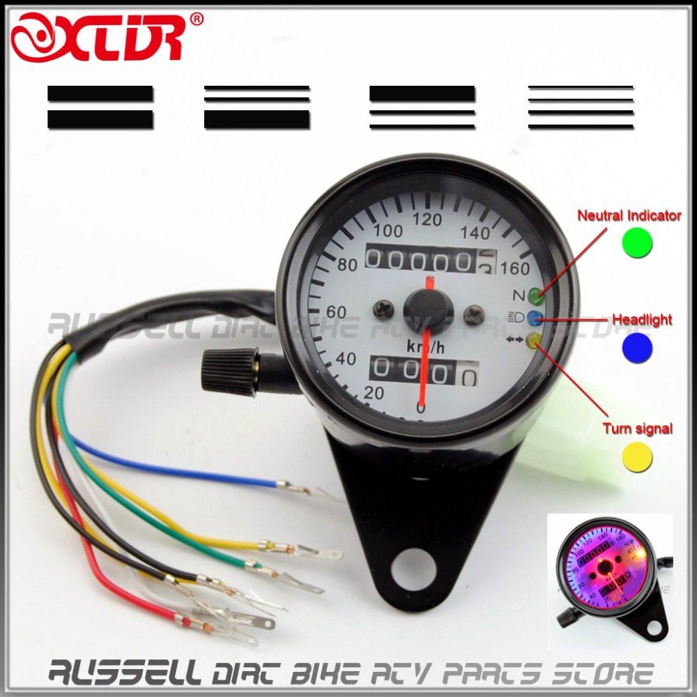 Online Shop Motorcycle Backlit Dual Retro Vintage Speedometer Honda Monkey Z50j Wiring Diagram Odometer Gauge For Dax Mini Trail Z50 J R