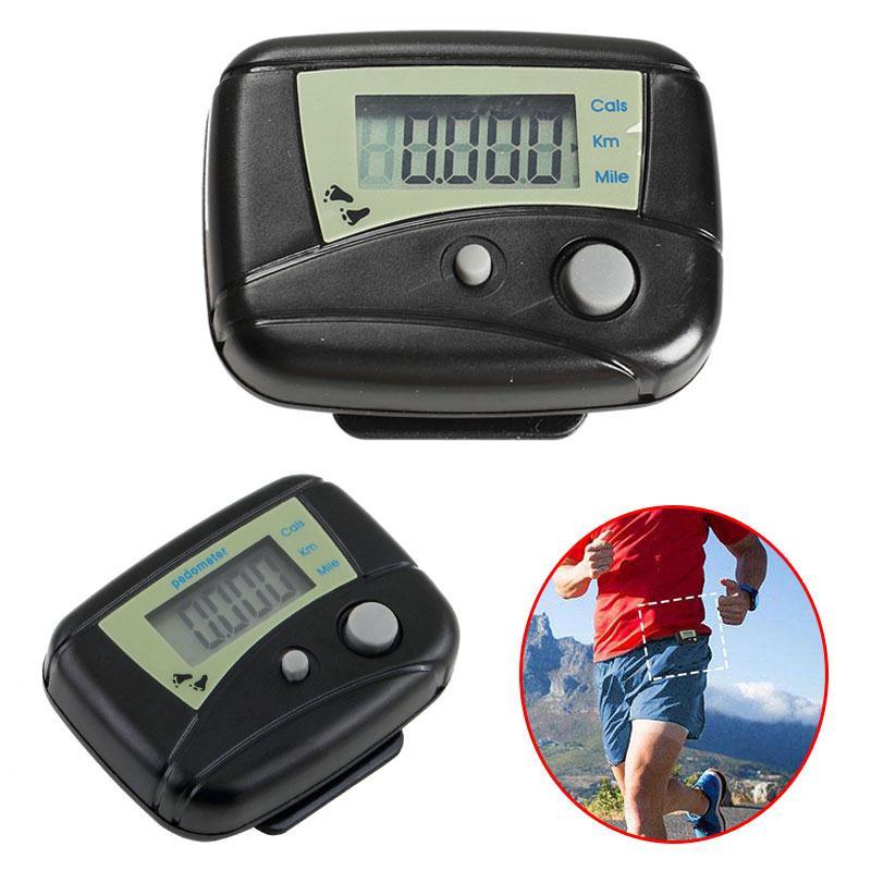Forfar 1 Stück Schwarz Outdoor Sport Digitalen Schrittzähler Lcd-pedometer-schritt-kalorie Run Gegenabstand Sport Pedometer Fitnessgeräte
