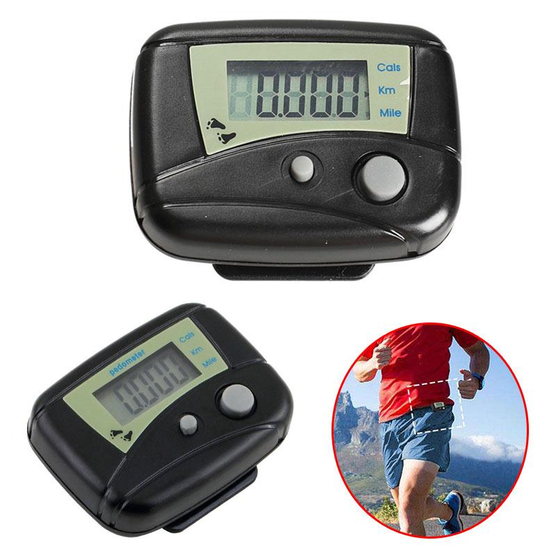 forfar 1pc Black Outdoor Sports Digital Pedometers LCD Pedometer Run Step Calorie Counter Walking Distance Sport Pedometer