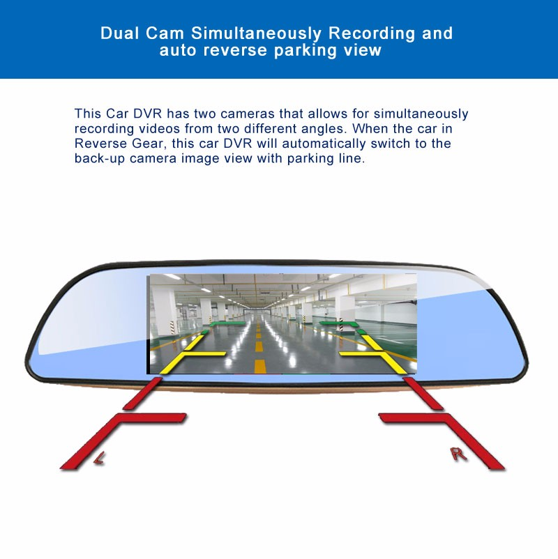 Free 32GB card+3G Car DVR+Android 5.0 Bluetooth GPS WIFI Dual lens rearview mirror camera+FHD1080P camara automovil Phisung H2 15
