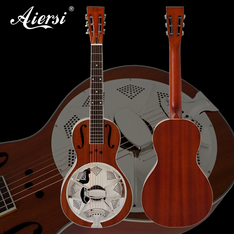 Mahogany Parlour Resonator Guitar Free Plywood Case Guitar Straps Highway 61 Model travel guitar TRG-03 цена и фото