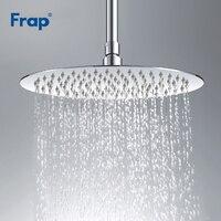 Frap Stainless Steel Ultra thin Waterfall Shower Overheads Rainfall Shower Head Rain Shower Square Round Diameter 300mm G29*3