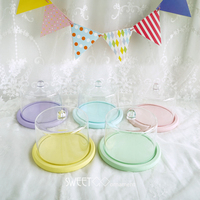 Round cake tray with PC dome cake decorating tools Bride shower birthday party home decoration bakeware Kitchen& bar