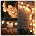 Navidad de Secuencia de Hadas Luces de Bolas Garland Lámparas 4.5 M Batería AA Lamparas de Ratán Patio Luces Luces De Navidad de Interior Decoración De La Boda