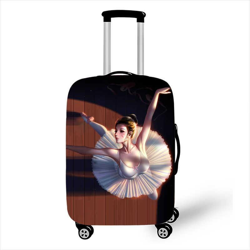 Мультяшный балетный танцор багажный чехол для чемоданов защитные чехлы эластичные Чехлы для чемодана на колесиках аксессуары для путешествий