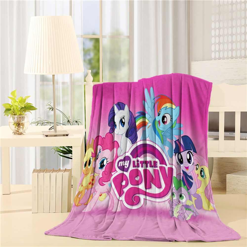 Изготовленный на заказ мой маленький пони фланелевый плед легкая уютная кровать диван супер мягкое одеяло ткань