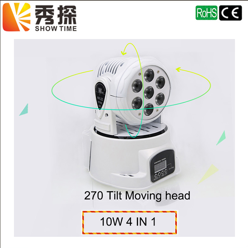 Hot sale 100W led RGBW mini Moving Head stage Light Disco DMX-512 for Party Club Pub Bar KTV moving Wash light Stage Lighting 6pcs lot white color 132w sharpy osram 2r beam moving head dj lighting dmx 512 stage light for party