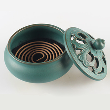 T Special Coil retro incense burner Living Room ceramic holder creative home decor Buddha Buddhist Ornaments Xmas Gift