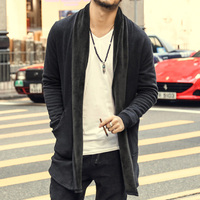 2016 Autumn Style Pull Homme Slim Fit Solid Color Sweater Long Sleeve Cardigan Men High Quality