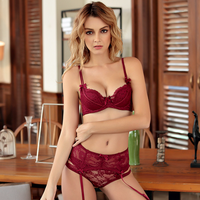 Ultra Thin Mesh Bra And Panty Set Transparent Bra With Sexy Lingerie Women Intimates Brassiere Embroidery