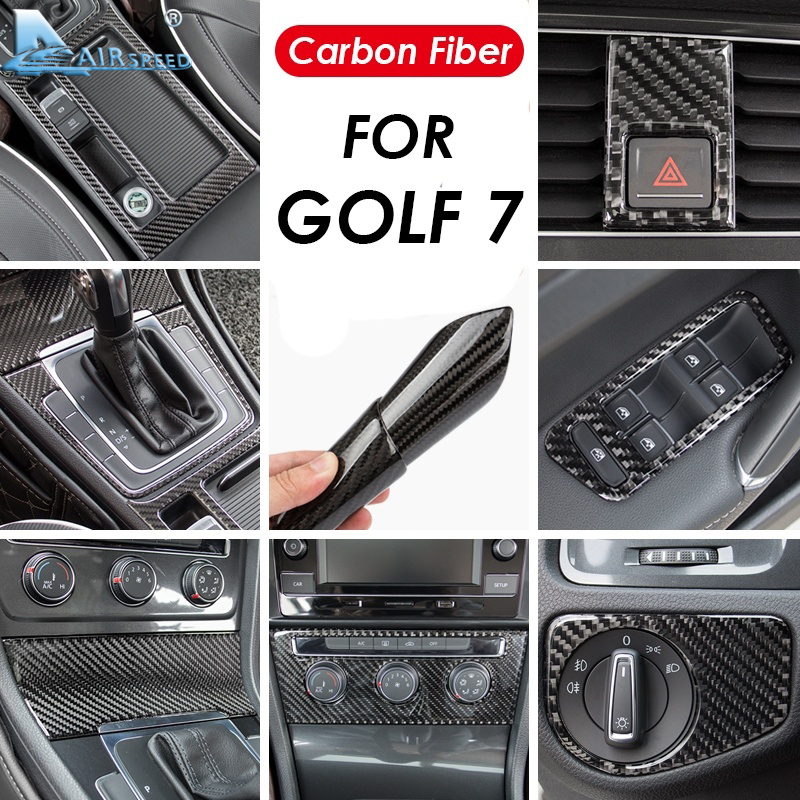 Airspeed LHD for Volkswagen <font><b>Golf</b></font> <font><b>7</b></font> Accessories for <font><b>VW</b></font> <font><b>Golf</b></font> <font><b>7</b></font> R line GTI Mk7 GTD for <font><b>Golf</b></font> <font><b>7</b></font> Stickers <font><b>Carbon</b></font> Fiber Interior Trim image
