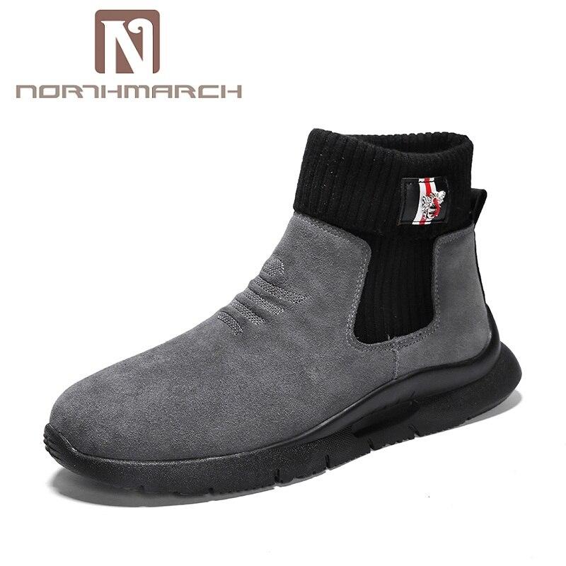 396fbdf58c1 gris Invernali Northmarch Chaussures Qualité Chaud Cheville Botas Bottes  Uomo Scarpe Sport D hiver Hommes Hombre ...