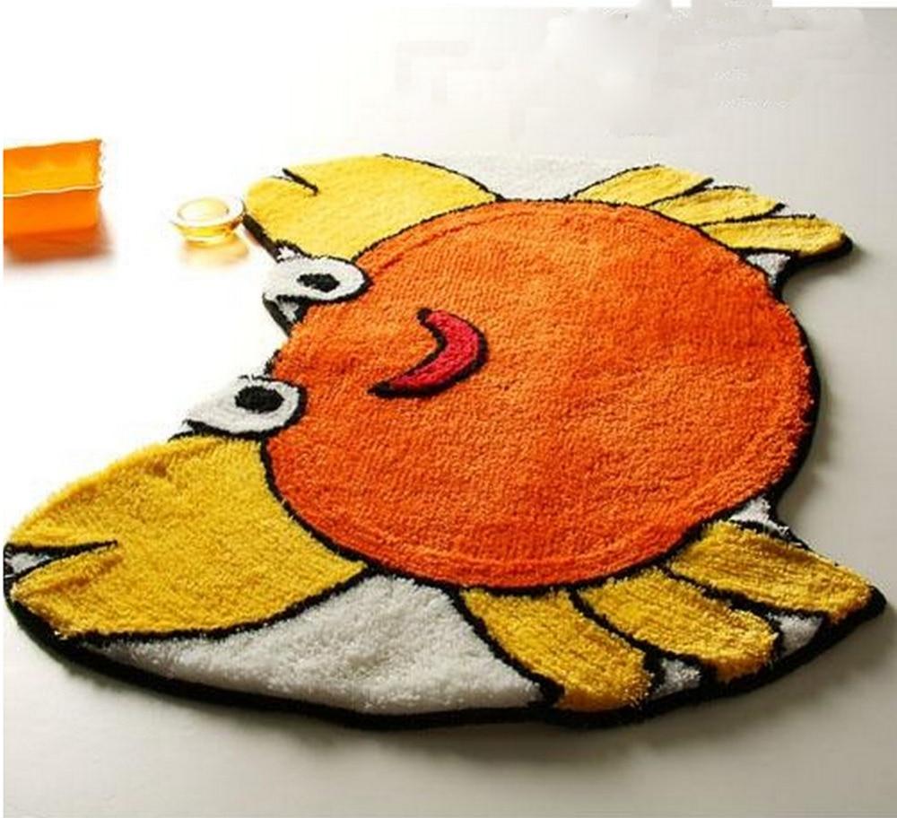 2016 Durable Super Cute Child Cartoon Crab Animal Shaped Soft Bedroom  Bathroom Kitchen Home Decorative Carpet