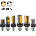 New E27 LED Lamp AC110V 220V SMD 5736 LED Bulb 3.5W 5W 7W 9W 12W 15W Smart IC Corn Light No Flicker Chandelier Light