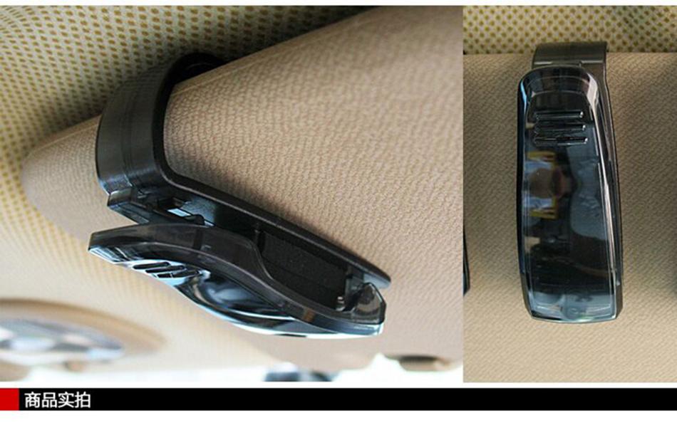 HTB1pT4rXrPpK1RjSZFFq6y5PpXaE - Hot Sale Auto Fastener Cip Auto Accessories ABS Car Vehicle Sun Visor Sunglasses Eyeglasses Glasses Holder Ticket Clip for cruze