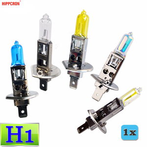 hippcron H1 Halogen Bulb 12V 55W 100W Clear Super White Yellow ION Rainbow 2200Lm Quartz Glass Car Headlight Lamp