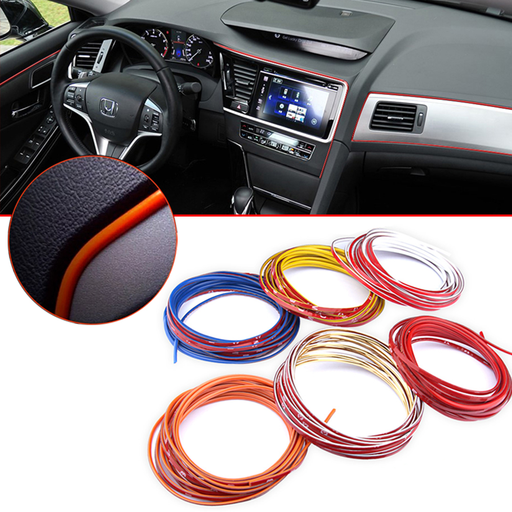 1m 6m multicolor car styling flexible trim moulding body sticker indoor modify interior trim. Black Bedroom Furniture Sets. Home Design Ideas