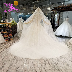 Image 4 - AIJINGYU Shiny Wedding Dresseses Real Photo Modest Bridals Indian Sexy Price Big Size Garden Gown Wedding Dress Accessories
