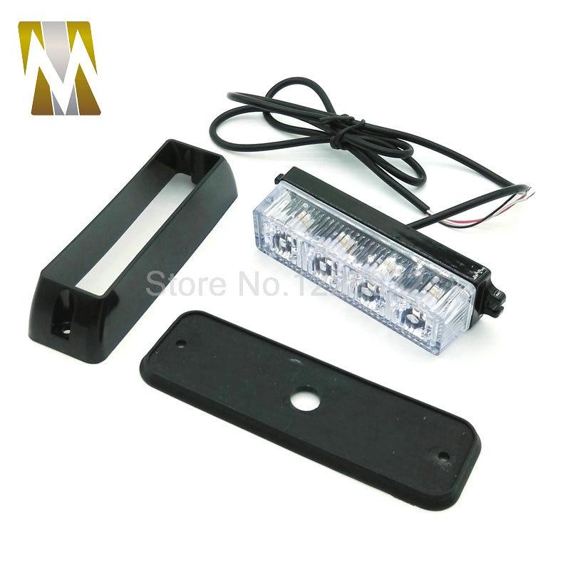 12V / 24V LED Avtomobil Təcili Beacon İşıq Bar 4W 12V Led Strobe - Avtomobil işıqları - Fotoqrafiya 4